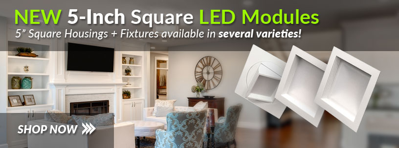 5 Inch Square LED Fixtures at USALight